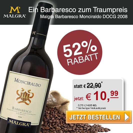 52% Rabatt Barbaresco aus dem edlen Piemont!