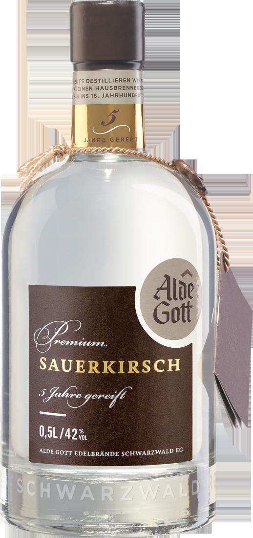 Alde Gott Edelbrand Premium Sauerkirsch 5 Jahre 42% vol. 0,5l Baden 37,80€ pro l