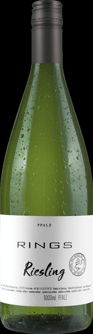 Weißwein Rings Riesling 365 Tage 1l Pfalz 6,90€ pro l