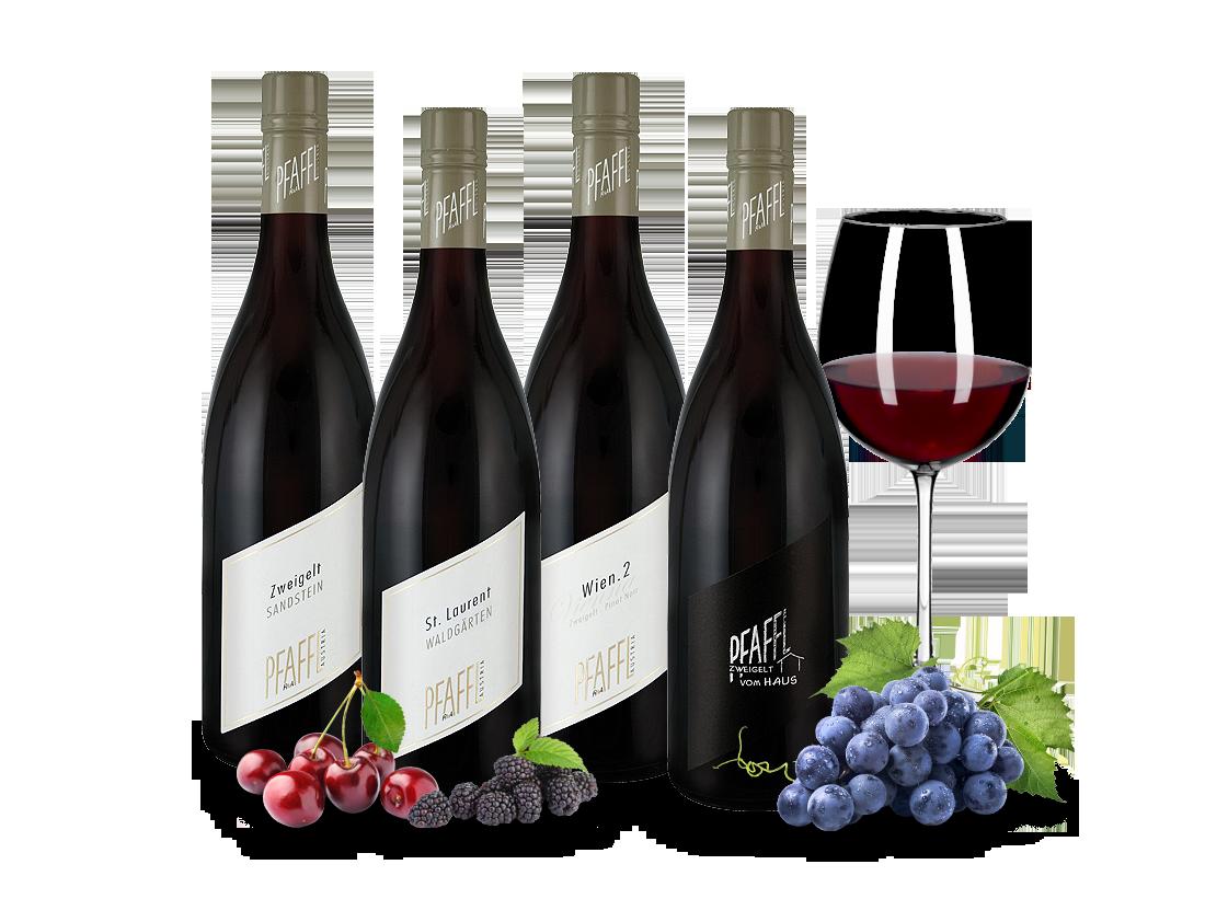 Kennenlernpaket Rotweine vom Weingut Pfaffl10,00? pro l