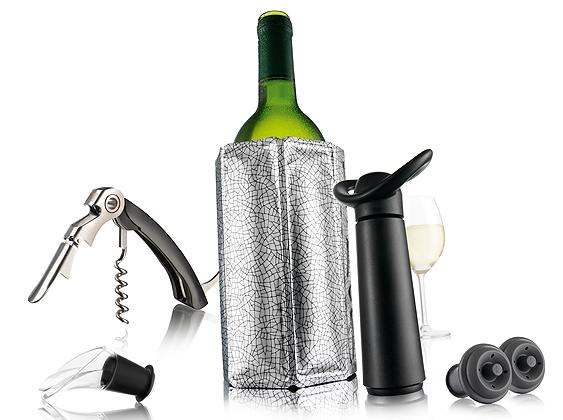 Vacu Vin Wein Geschenkset Wine Essentials 6tlg