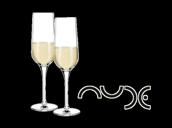 NUDE Sekt-Gläser Refine 2er Set