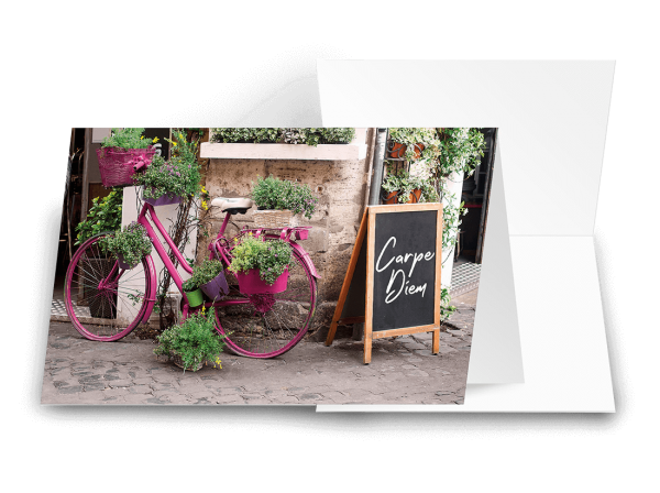 Grußkarte Wünsche im Gepäck 'Carpe Diem'