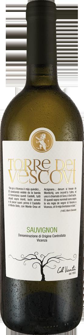 Weißwein Cantina Colli Vicentini Sauvignon Blanc Torre dei Vescovi Vicenza DOC Venetien 7,99€ pro l