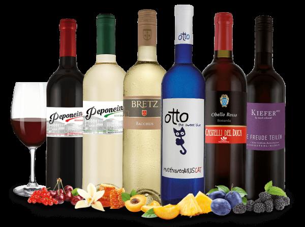 Probierpaket liebliche Weiß und Rotweine