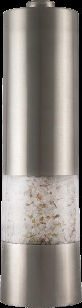 Elektrische Pfeffer-/Salzmühle silber mit Licht