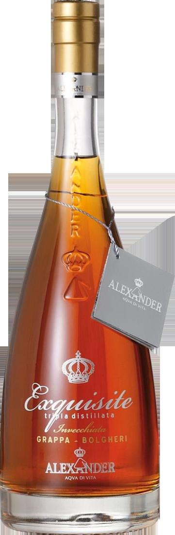 Distilleria Bottega Alexander Grappa Exquisite Bolgheri 38% vol.l Toskana 48,43? pro l