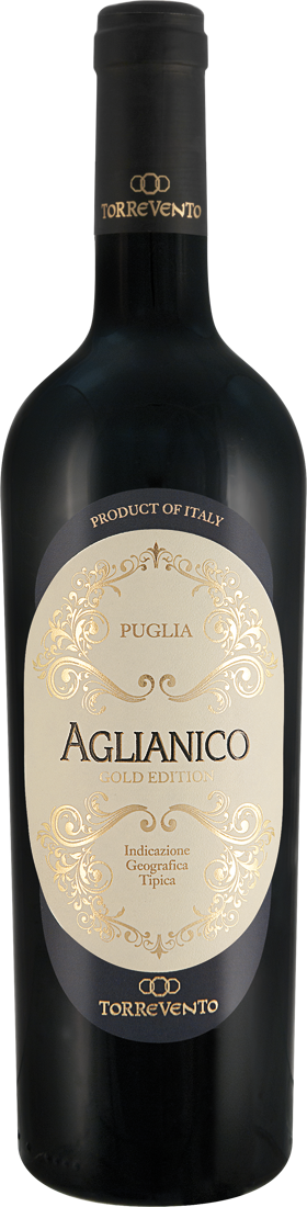 Rotwein Torrevento Aglianico Gold Edition Puglia IGT Apulien 8,65? pro l