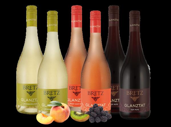 Weingut Ernst Bretz Probierpaket 3 x 2 Fl. Glanztat Rot - Rosé - Weiß