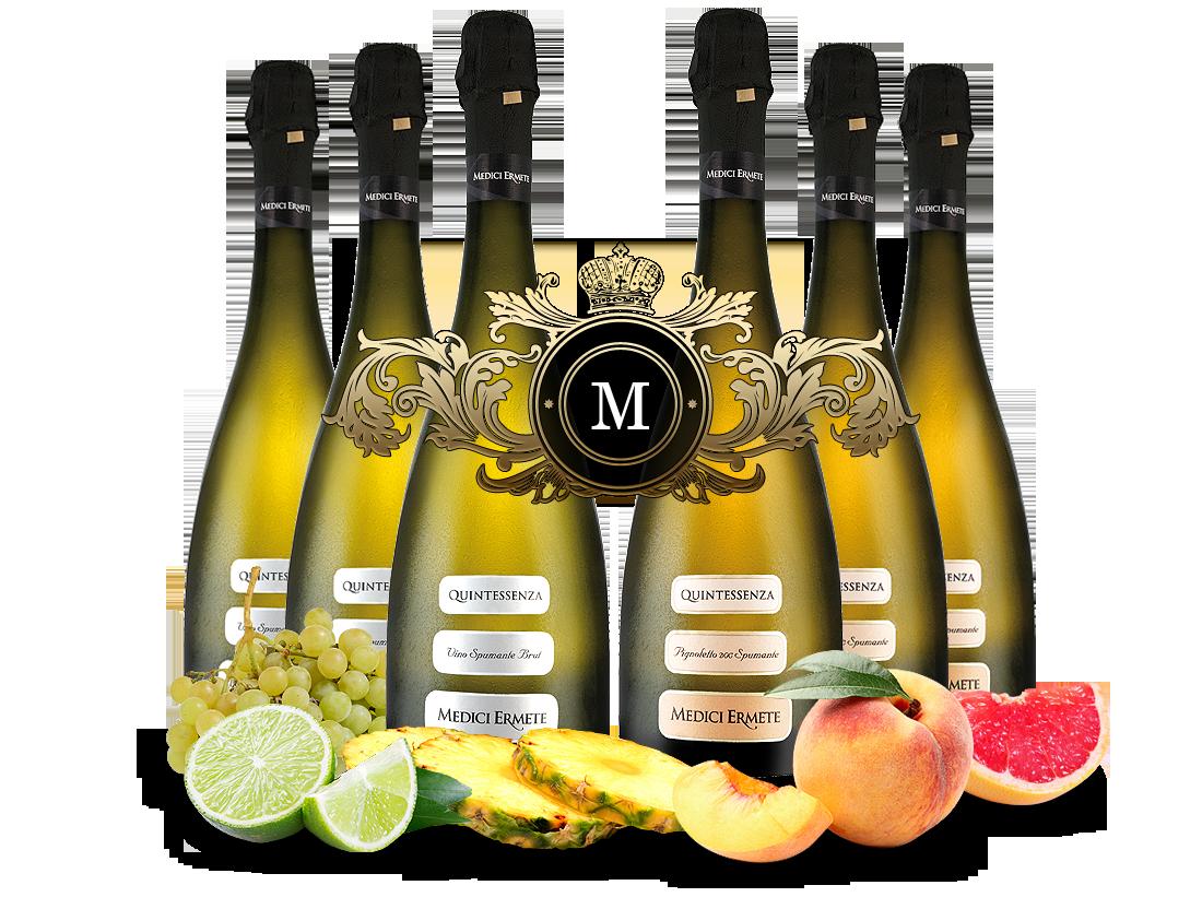 Königliches Duett mit je 3 Flaschen Medici Ermete Quintessenza Spumante7,78? pro l