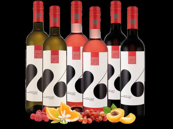 Kennenlernpaket Weingut Bickel-Stumpf 6 Fl. TWENTYSIX weiß, rosé & rot