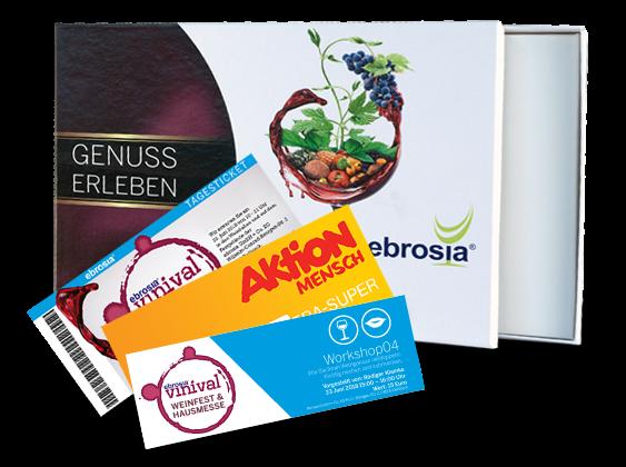 vinival-Geschenkbox: Eintrittskarte, Workshop04 & Xtra-Superlos-Gutschein Aktion Mensch