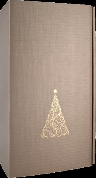 Präsentkarton 'Christbaum Royal Metallic' für 2 Flaschen