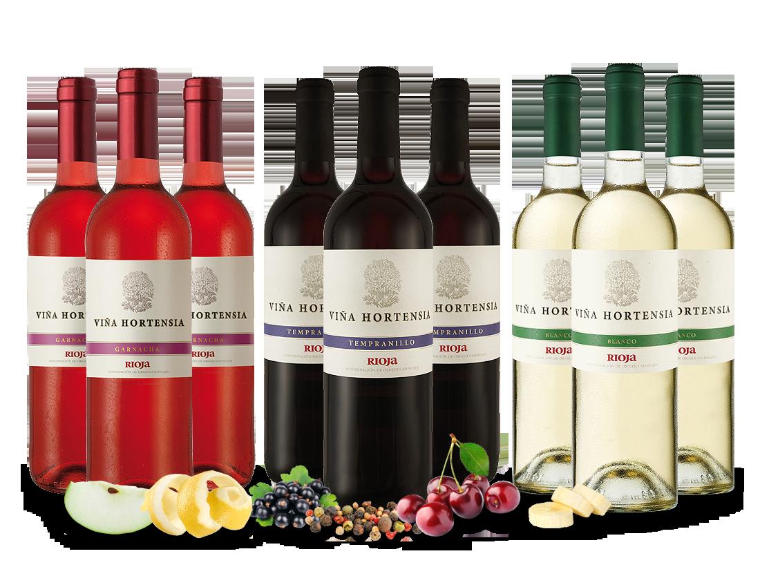 Kennenlernpaket Viña Hortensia Preferido mit je 3 Flaschen7,41? pro l