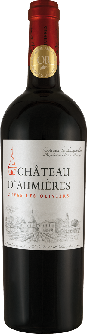 Rotwein Château dAumières Cuvée Les Oliviers AOP Languedoc 9,32€ pro l