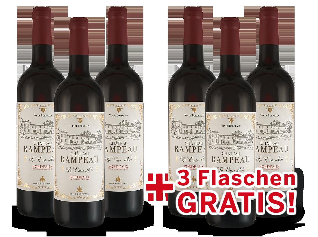 Vorteilspaket 6 für 3 Château Rampeau « La Croix dOr » Bordeaux8,33? pro l