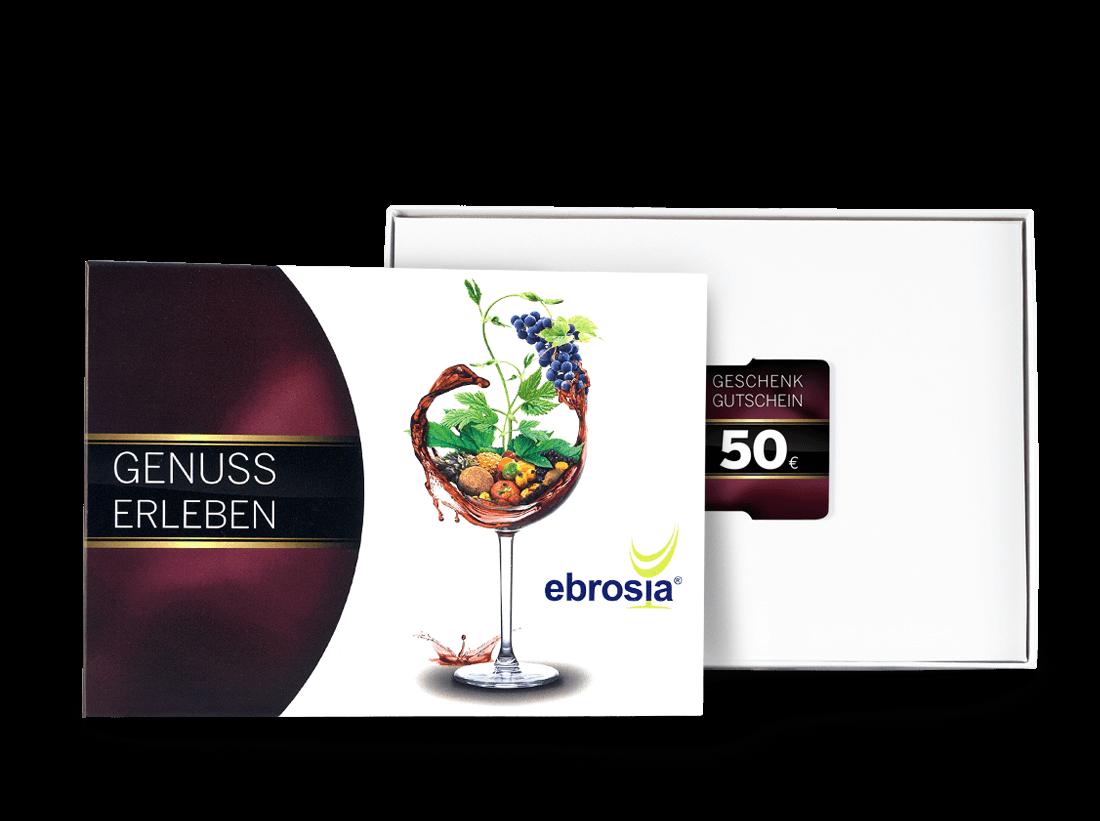 Geschenkkarte Wert 50 ? in dekorativer Präsentbox