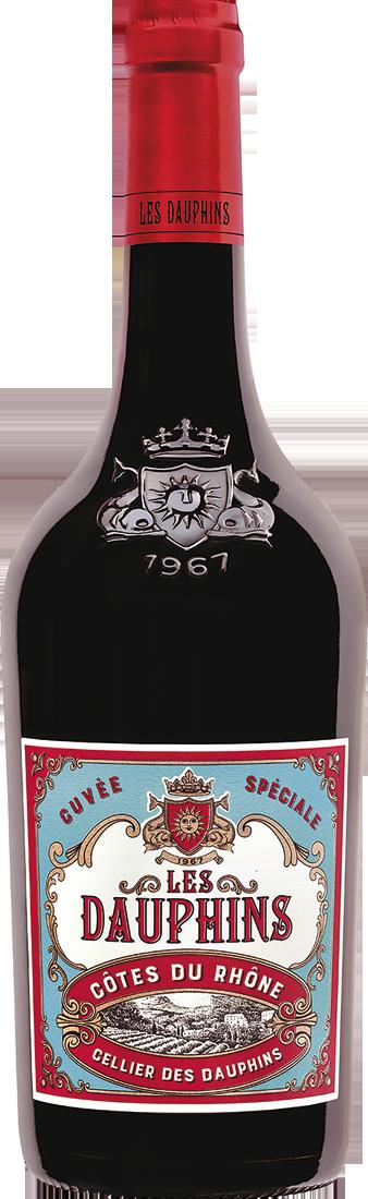 Rotwein Les Dauphins Réserve Rouge Rhône 9,32? pro l