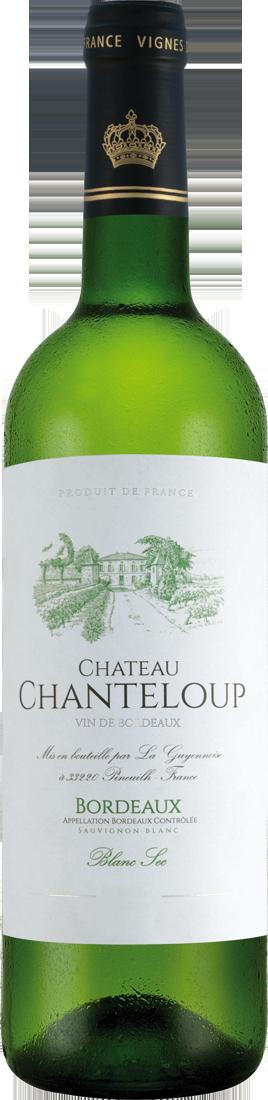 Weißwein Château Chanteloup Sauvignon Blanc Bordeaux Blanc AOC Bordeaux 10,65? pro l