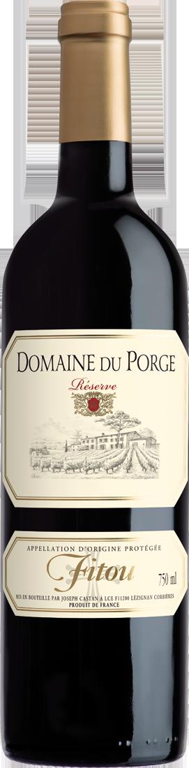 Rotwein Joseph Castan Domaine du Porge Réserve Fitou AOP Languedoc 7,32€ pro l