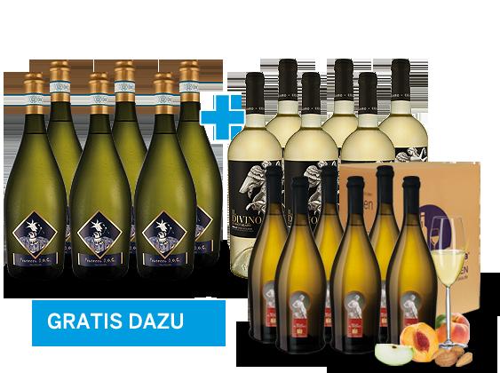 Je 6 Flaschen Prosecco & Grillo inkl. 6 Flaschen Bella al Bagno gratis9,44€ pro l