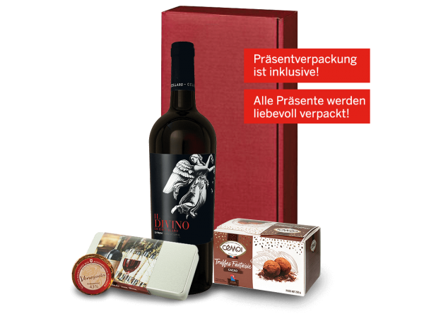 Präsent 'Rendez-vous with wine'