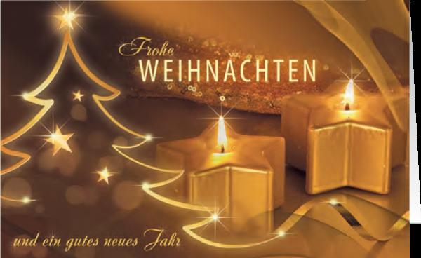 Grußkarte Weihnachten 'Magischer Kerzenschein'