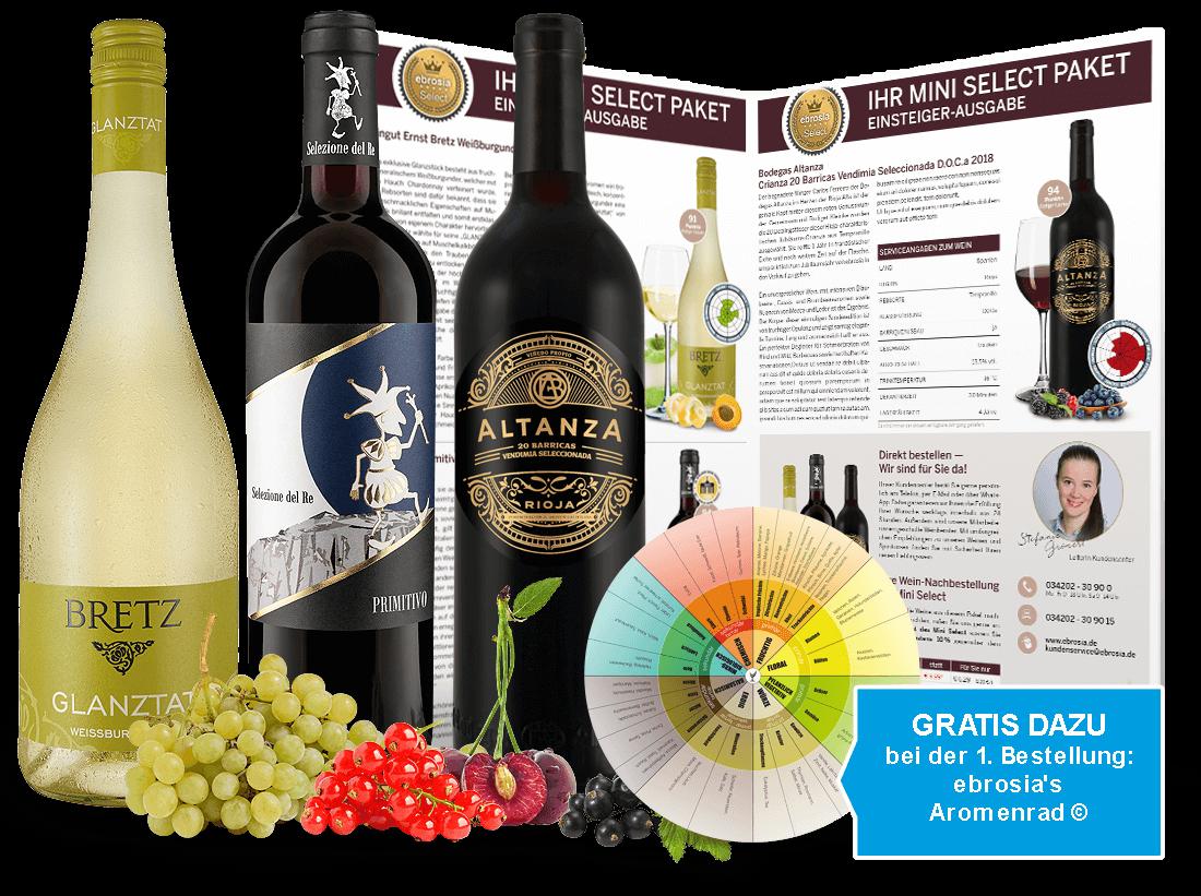 Mini Select - Das kleine Abonnement aromatischer Weine6,62? pro l