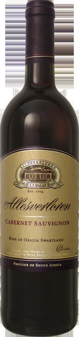 Rotwein Allesverloren Cabernet Sauvignon Swartland 17,20€ pro l