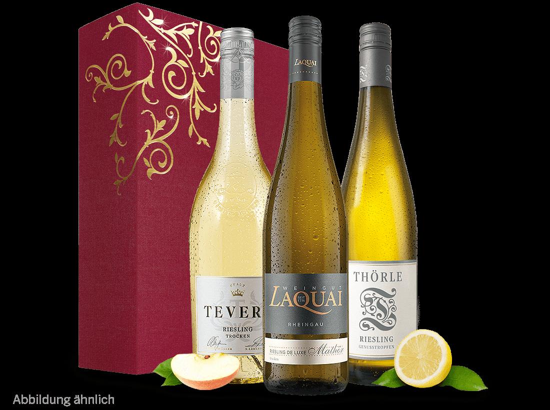Weißwein Deutsches Weingeschenk - Riesling Delu...