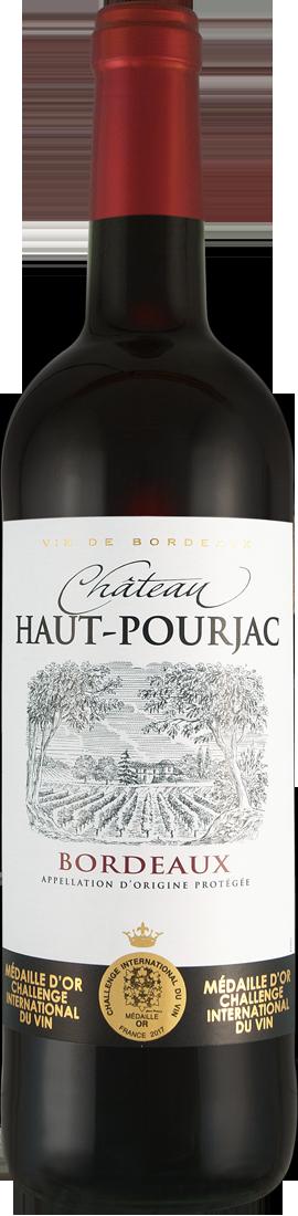 Rotwein Château Haut-Pourjac Bordeaux AOC Bordeaux 8,65€ pro l