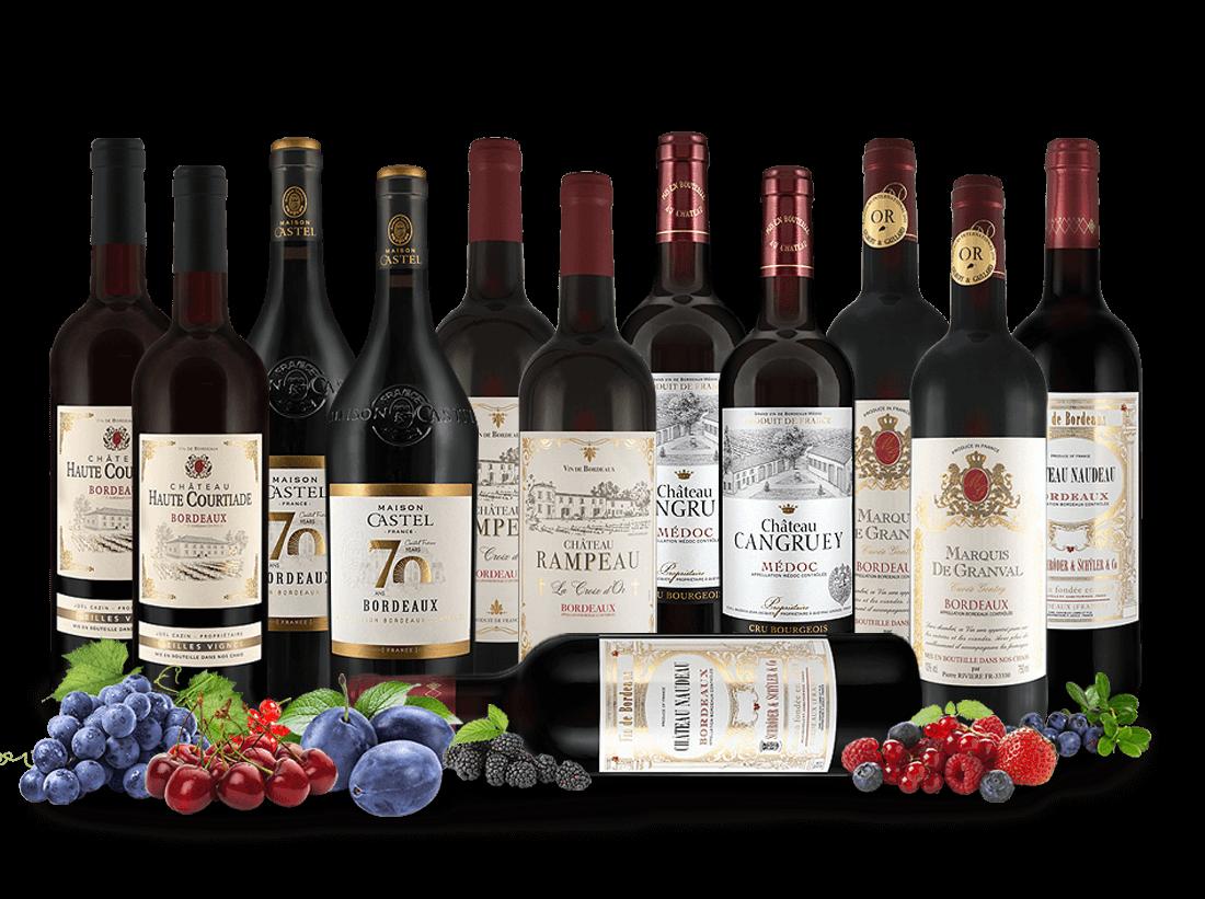 Best of Bordeaux Entdeckerpaket und 4 Gläser gratis7,77€ pro l