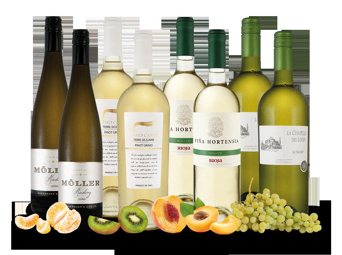 Vorteilspaket Weißwein-Klassiker mit 4 x 2 Flaschen8,32? pro l