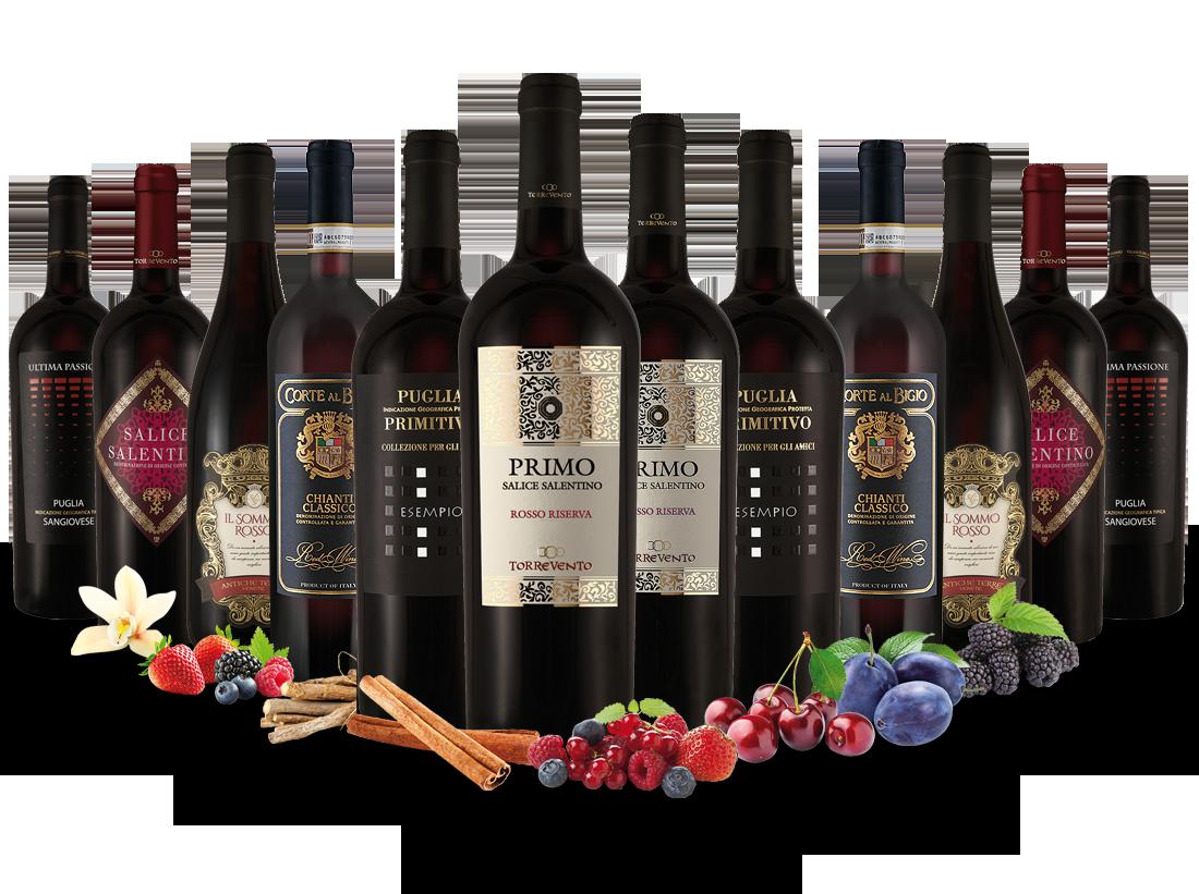 Best of Italien Rotwein Entdeckerpaket8,33? pro l