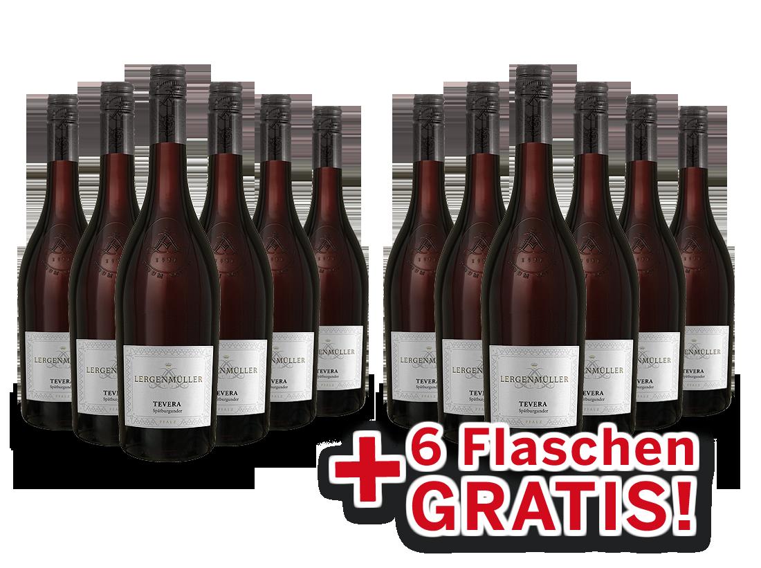 Vorteilspaket 12 für 6 Lergenmüller Spätburgunder TEVERA8,89? pro l