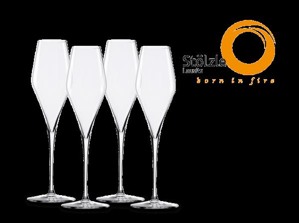 Stölzle Champagnerkelch Q1 mundgeblasen 4er Set
