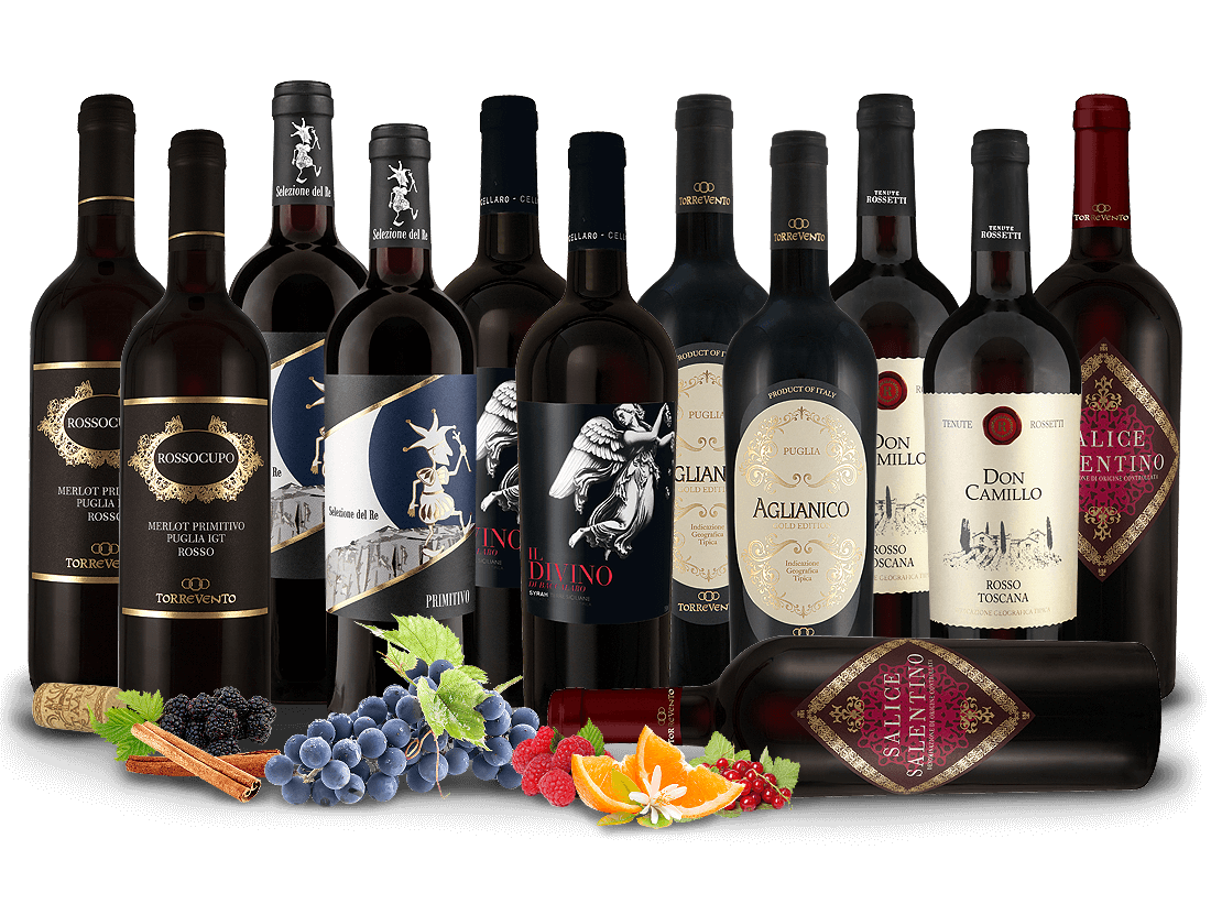 Italienische Rotwein-Selektion7,66€ pro l