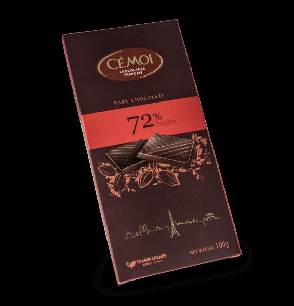 Cémoi Zartbitterschokolade 72% Kakao 100g