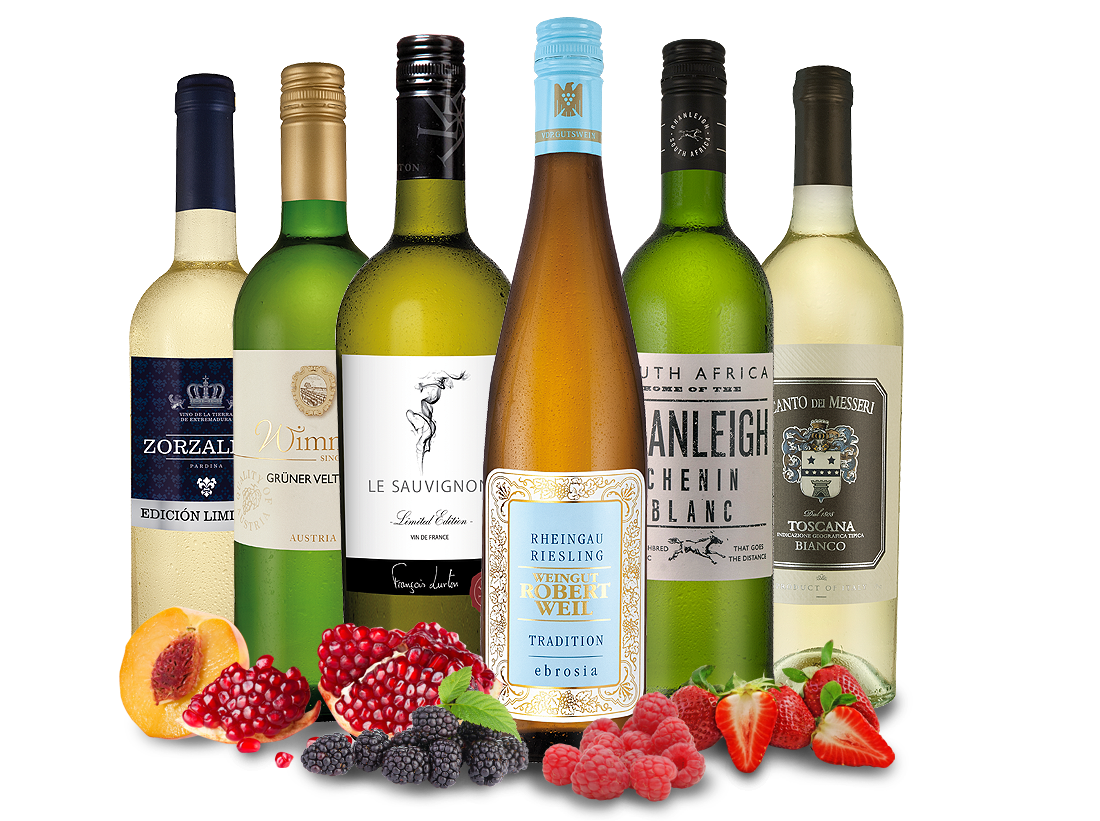 Weißweingenussreise Lieblingsrebsorten mit 6 Flaschen8,89? pro l