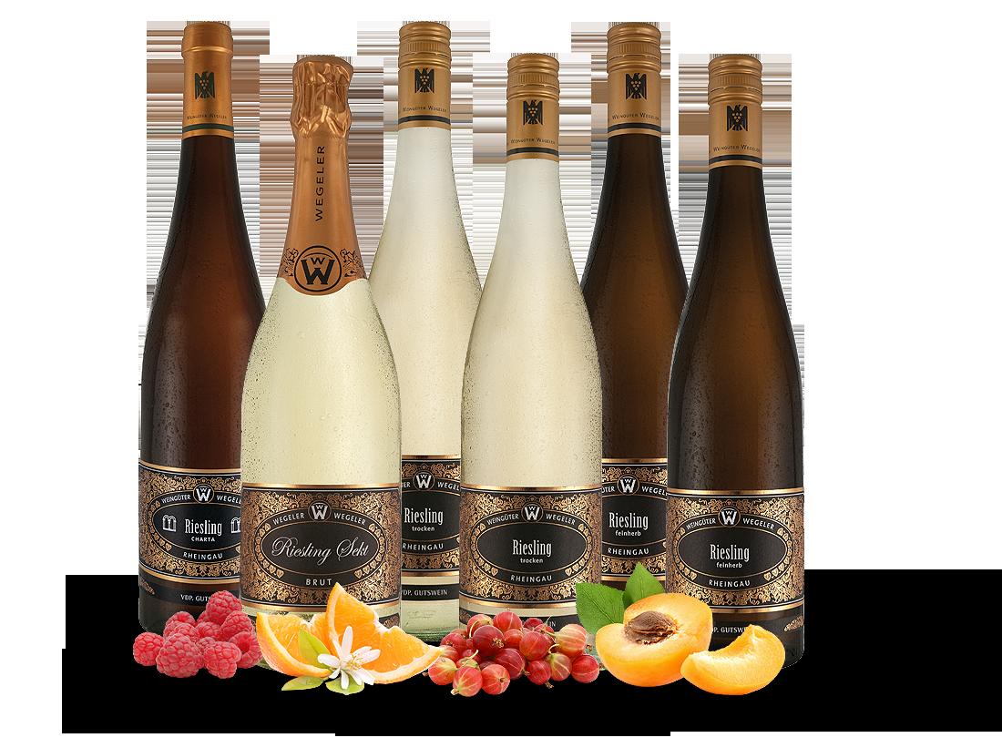 Kennenlernpaket 6 Fl. vom Weingut Wegeler Rheingauer Gutsweine13,31? pro l