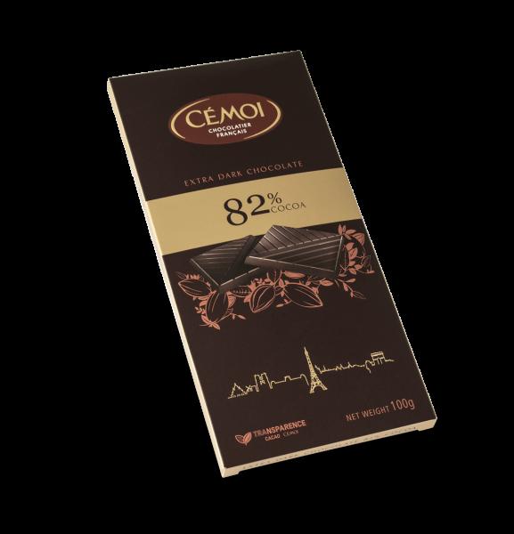 Cémoi Zartbitterschokolade 82% Kakao 100 g