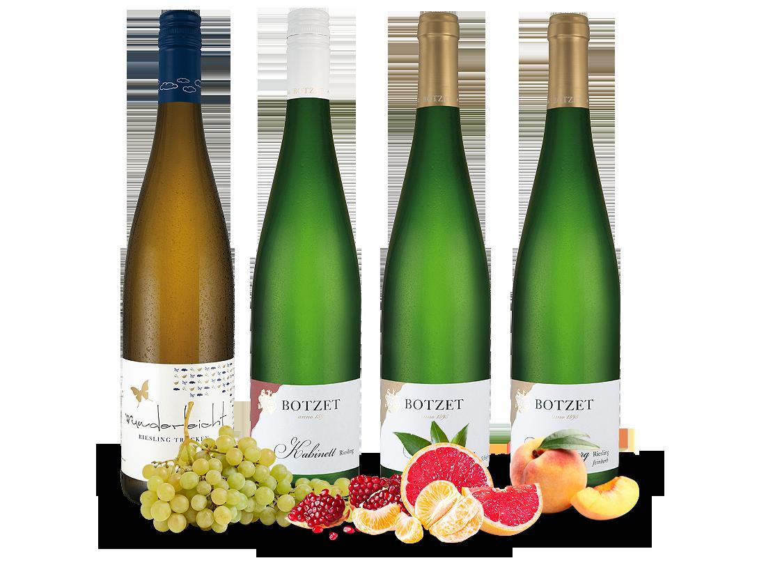 Kennenlernpaket Moselrieslinge vom Weingut Botzet9,30? pro l