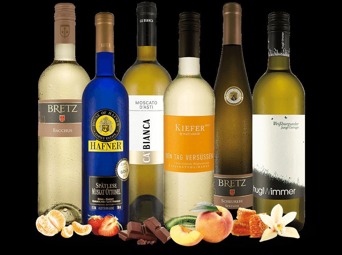 Unsere besten lieblich-süßen Weißweine im Probierpaket8,89? pro l