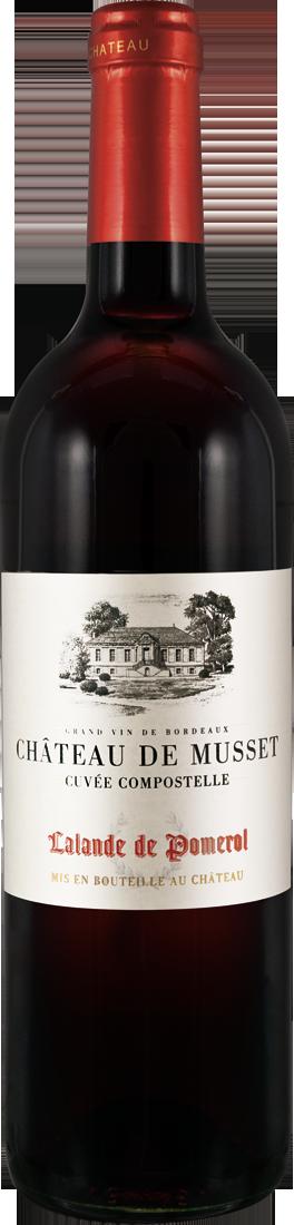 Rotwein Château de Musset Cuvée Compostelle Lalande de Pomerol AOC Bordeaux 17,20? pro l