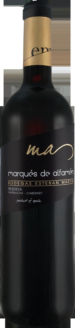 Rotwein Bodegas Esteban Martín Marqués de Alfamén Reserva DOP Cariñena 10,65? pro l