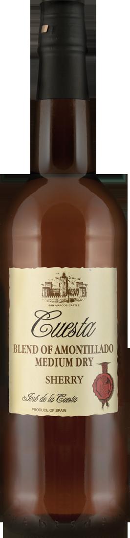 Weißwein Bodegas José de la Cuesta Sherry Medium Amontillado 17,5% vol. Jerez 12,52? pro l