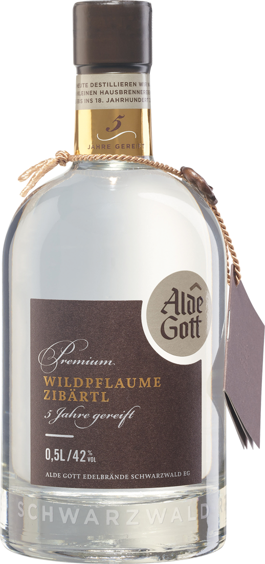 Alde Gott Edelbrand Premium Wildpflaume (Zibärtl) 42% vol. 0,5l Baden 41,80€ pro l