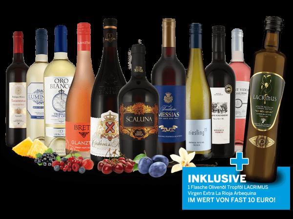 Probierpaket Goldene Herbstweine und 1 Flasche Olivenöl