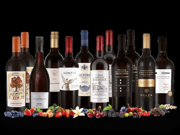 Das Best of ebrosia-Paket Rotwein mit 12 Flaschen