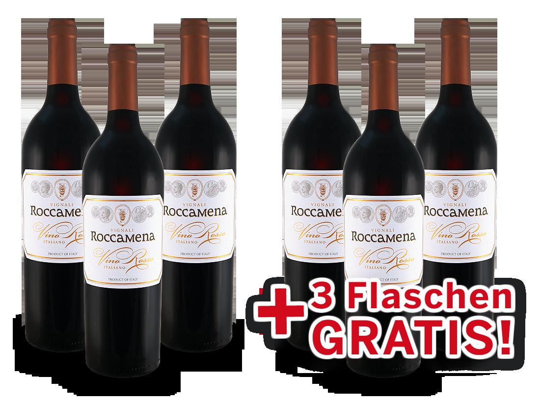 Vorteilspaket 6 für 3 Vignali Roccamena Vino Rosso7,99? pro l